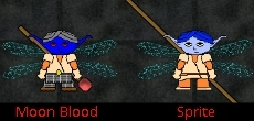 New Races: Sprites and Moon Bloods